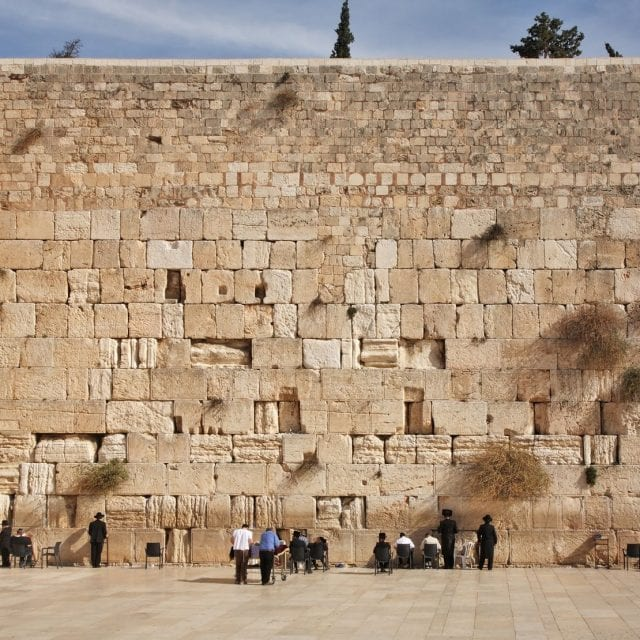 Western Wall in Jerusalem. Israel